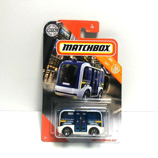 Matchbox MBX Self- Driving BUS - 2020 - Blanco con azul - Panamá