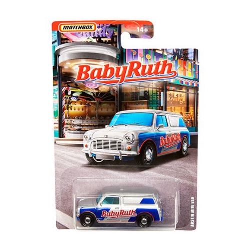 Matchbox Candy Theme Austin Mini Van Baby Ruth - 2020 - Gris