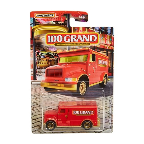 Matchbox Candy Theme International Armored Car 100Grand- 2020 - Rojo