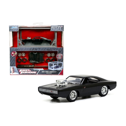 Jada Fast and Furious Model Kit Dom´s Dodge Charger R/T 1:64 - 2020 - Negro