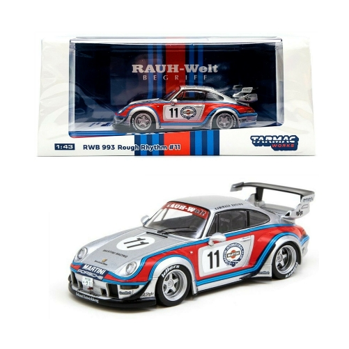 Tarmac Works Porsche 993 RWB Rough Rhythm #11 Martini 1:43 - 2020 - Gris