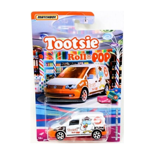 Matchbox Candy Theme 2020 Volkswagen Caddy Delivery Toostie Roll Pop - 2020 - Blanco