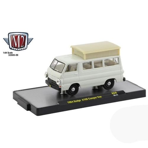 M2 Machines 1964 Dodge A100 Camper Van - 2020 - Blanco