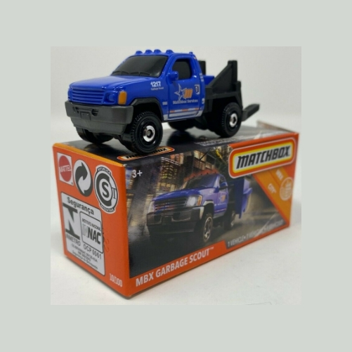 Matchbox Box MBX Garbage Scout - 2020 - Azul