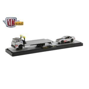 M2 Machines Hauler 1990 Ford C-8000 & 1987 Ford Mustang GT - 2020 - Gris