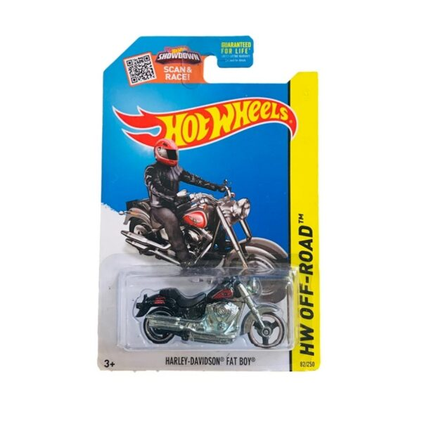 Hot Wheels 2014 Harley Davidson Fatboy - 2020 - Negro