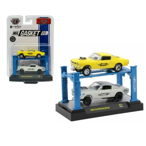 M2 Machines Auto Lift 2 Pack 1966 Ford Mustang Gasser - 2020