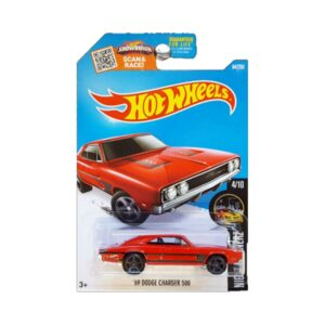 Hot Wheels 2015 69 Dodge Charger 500 - Rojo