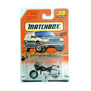 Matchbox 1999 Police Motorcycle - Gris