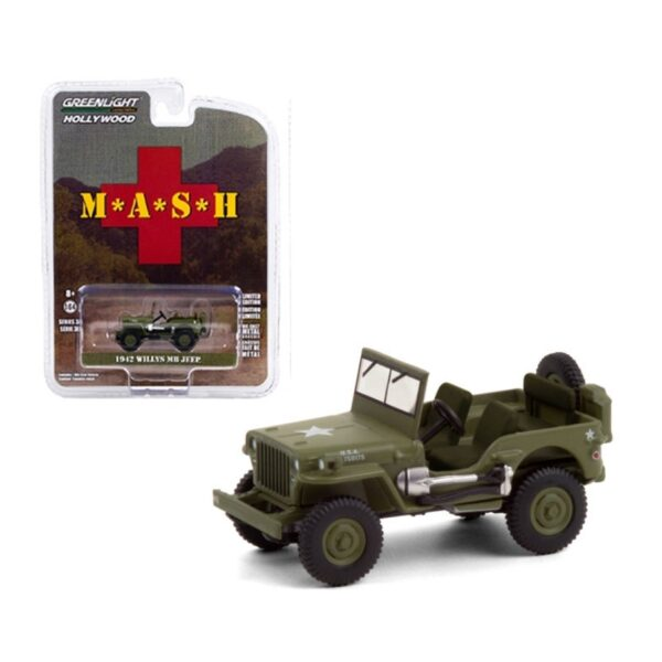 Greenlight Hollywood 1942 Willys MB Jeep MASH - Verde