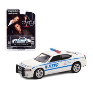 Greenlight Hollywood 2006 Dodge Charger Police Castle - Blanco
