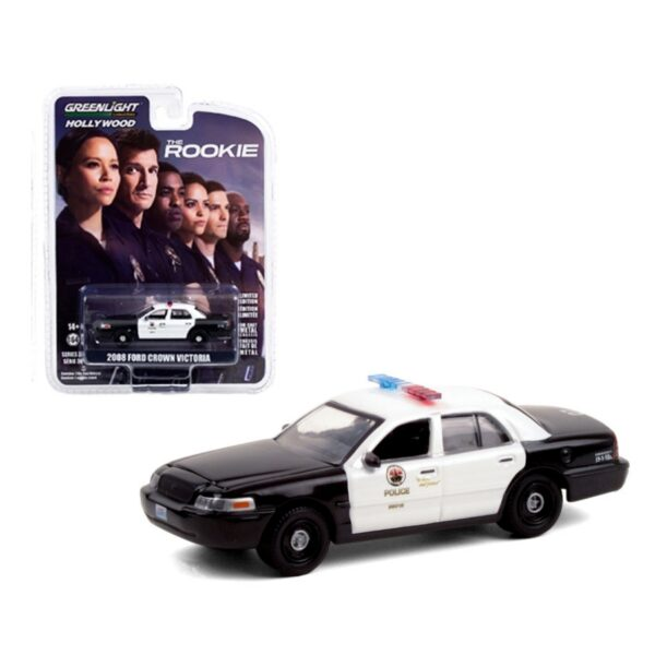 Greenlight Hollywood 2008 Ford Crown Victoria Police The Rookie - Negro